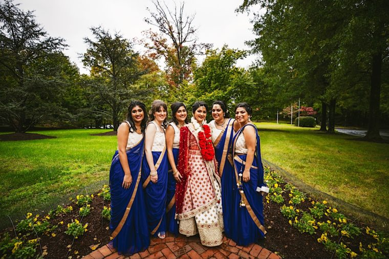 48 20181027 14 03 10 Creative south asian wedding portraits with wedding party and couple0A
